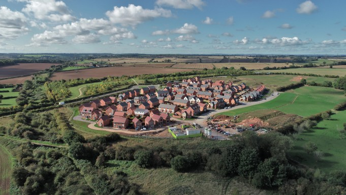 Drone aerial photography of development sites